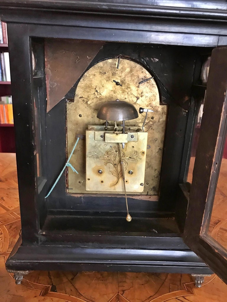 Austrian Signed Bracket Clock, circa 1770 For Sale 8