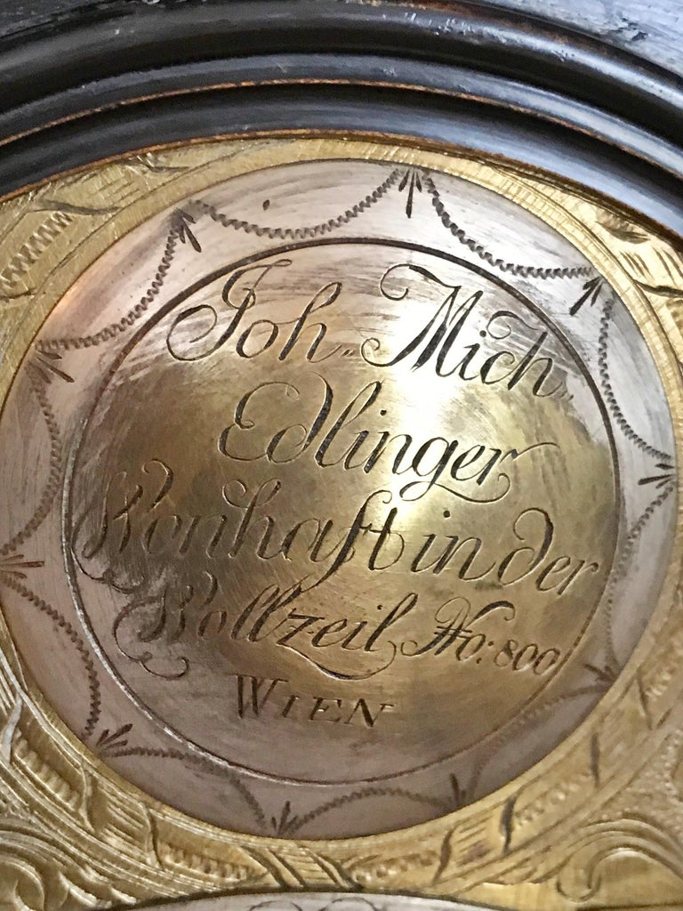 Baroque Austrian Signed Bracket Clock, circa 1770 For Sale