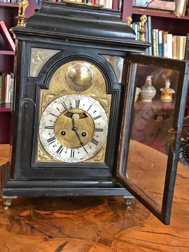Austrian Signed Bracket Clock, circa 1770 In Fair Condition For Sale In Unteriberg, Schwyz