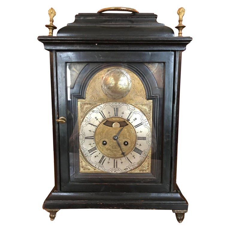 Austrian Signed Bracket Clock, circa 1770 For Sale