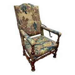 French Tapestry Reclining Armchair, a Veritable Medieval La-Z-boy