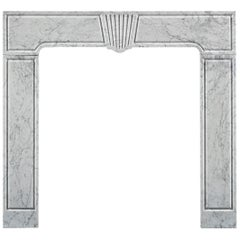 Early 18th Century Carrara Marble Fireplace