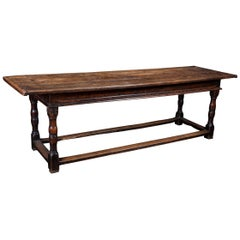 Early 18th Century English Oak Refectory Table