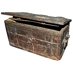 An Early 18th Century European 'Armada' Iron Chest