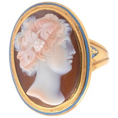 Early 19th Century Agate Cameo of Flora Ring
