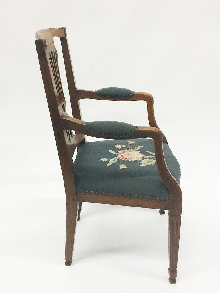 An early 19th century Dutch oak children's chair.  An early Dutch