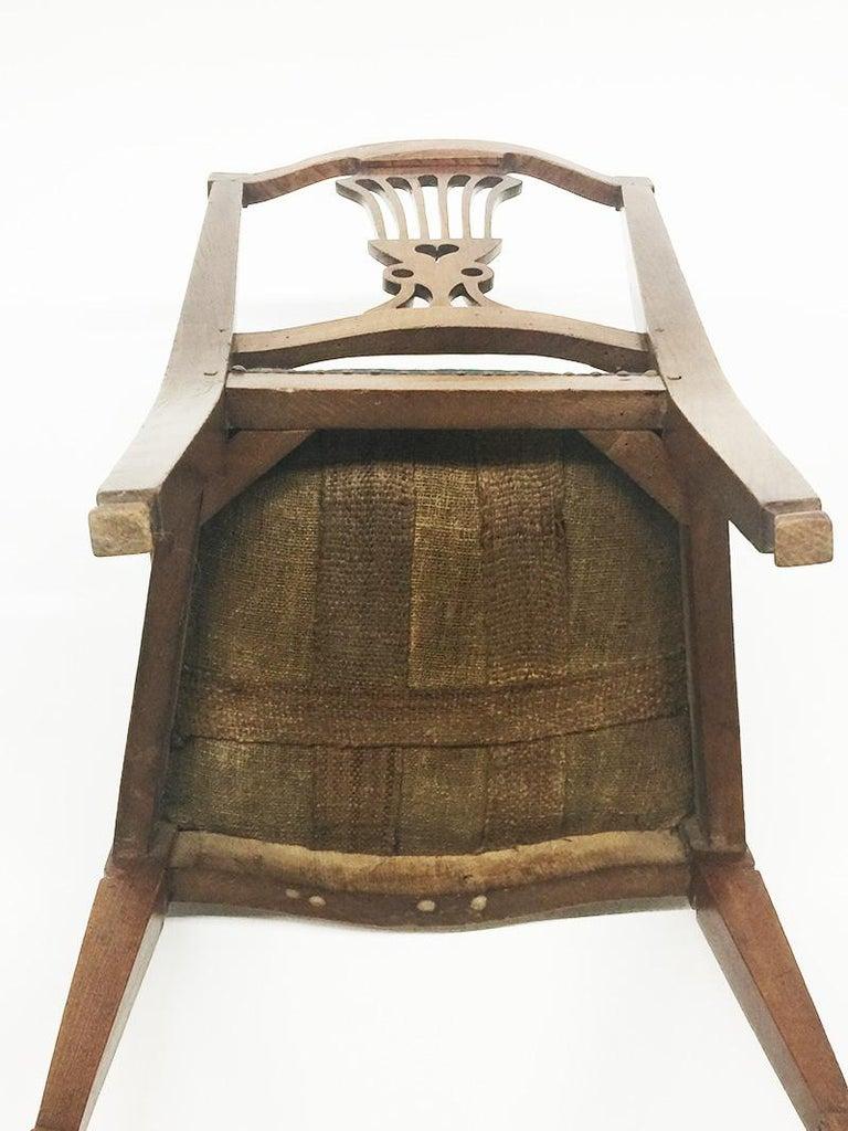 Early 19th Century Dutch Oak Children's Chair For Sale 2