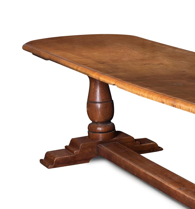 Charles II An Early 19th Century English Elm Refectory Table For Sale