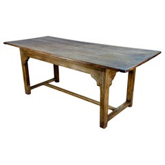 Early 19th Century French Elm Farmhouse Kitchen Refectory Dining Table
