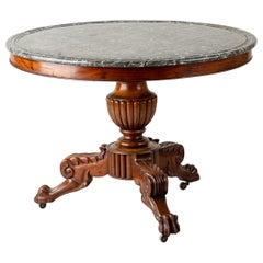 Early 19th Century French Marble Topped Gueridon Table