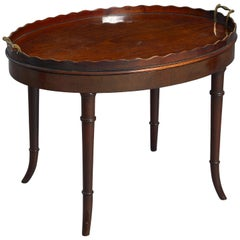Early 19th Century George III Period Mahogany Tray as a Low Table