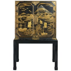 An Early 19th Century Lacquer Cabinet on Stand