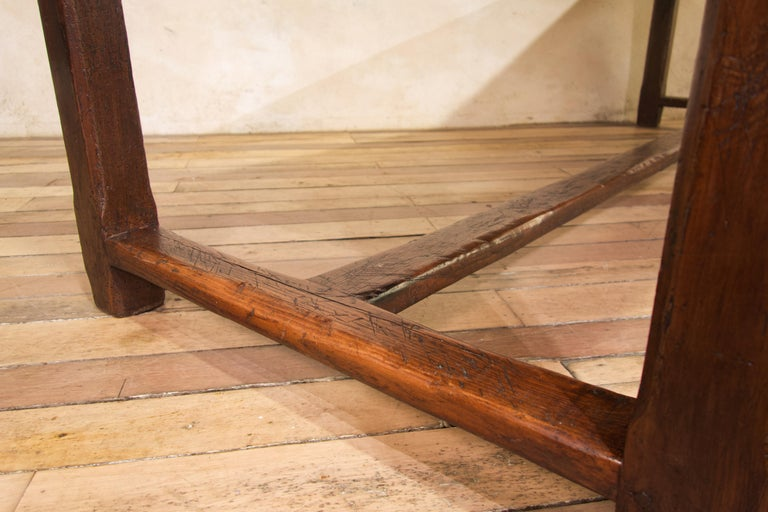 Early 19th Century Oak French Farmhouse Refectory Table 7