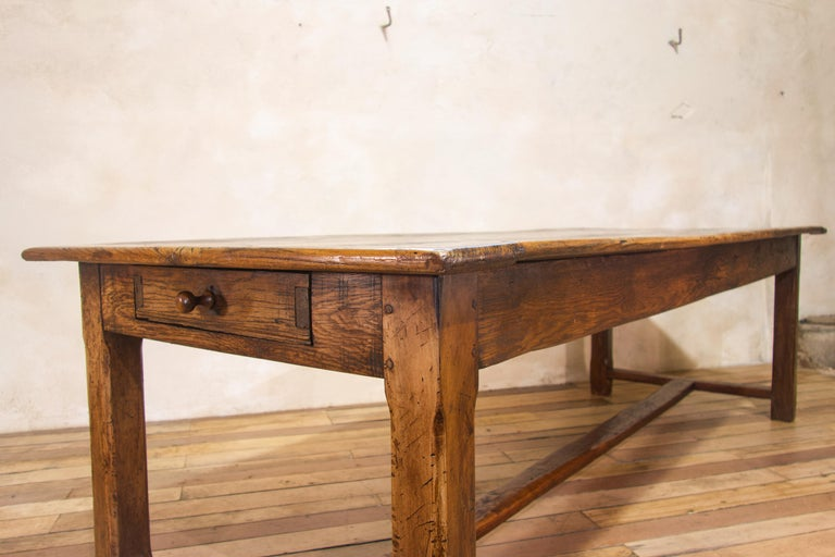 20th Century Early 19th Century Oak French Farmhouse Refectory Table