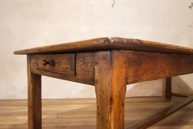 Early 19th Century Oak French Farmhouse Refectory Table 2