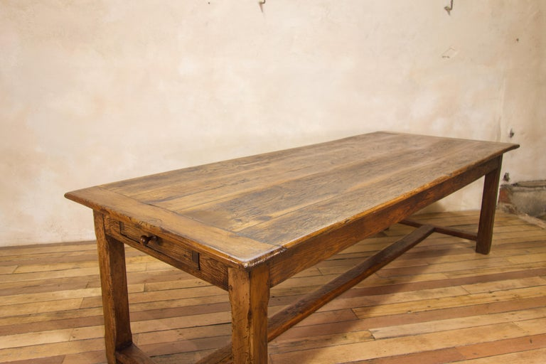 Early 19th Century Oak French Farmhouse Refectory Table 3