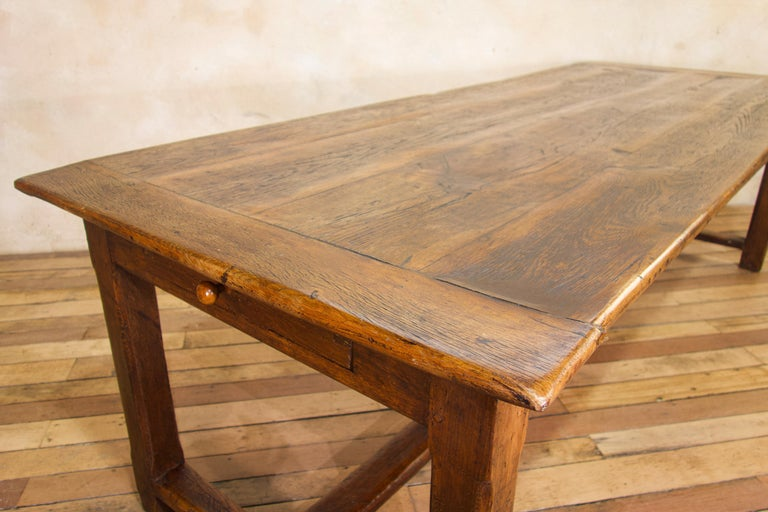 Early 19th Century Oak French Farmhouse Refectory Table 5