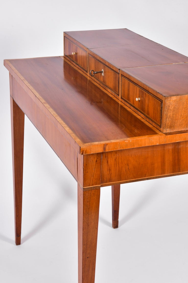 Early 19th Century Swedish Mahogany Dressing Table For Sale 6
