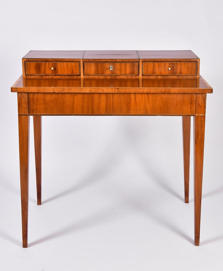 Regency Early 19th Century Swedish Mahogany Dressing Table For Sale