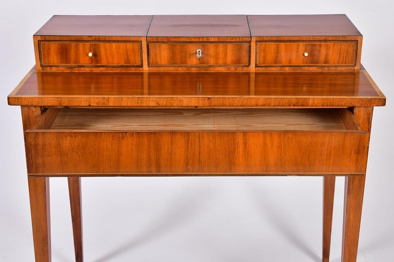 Early 19th Century Swedish Mahogany Dressing Table For Sale 2