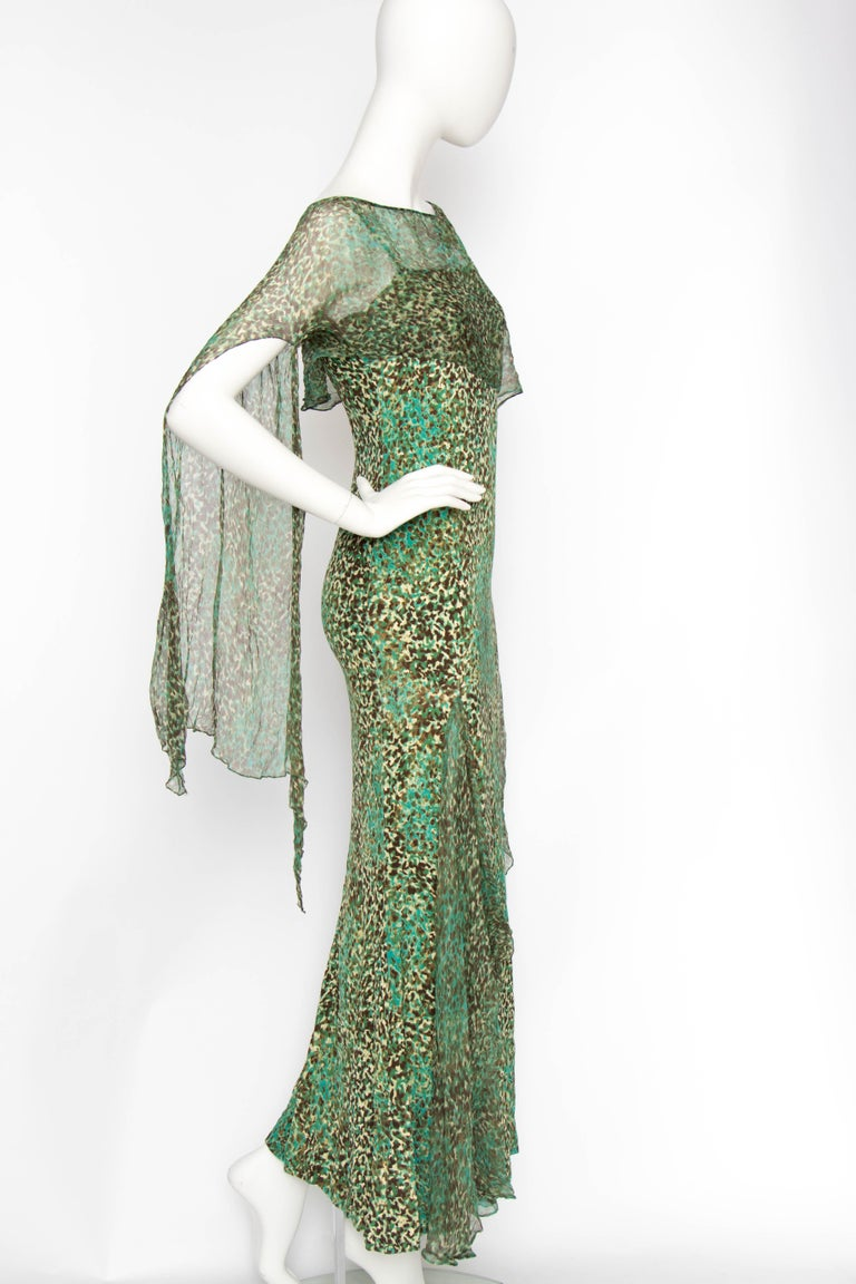 Gray An Early 2000s Elie Saab Jersey Evening Dress For Sale