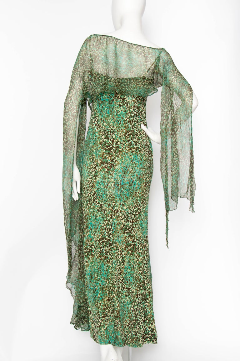 An Early 2000s Elie Saab Jersey Evening Dress In Good Condition For Sale In Copenhagen, DK