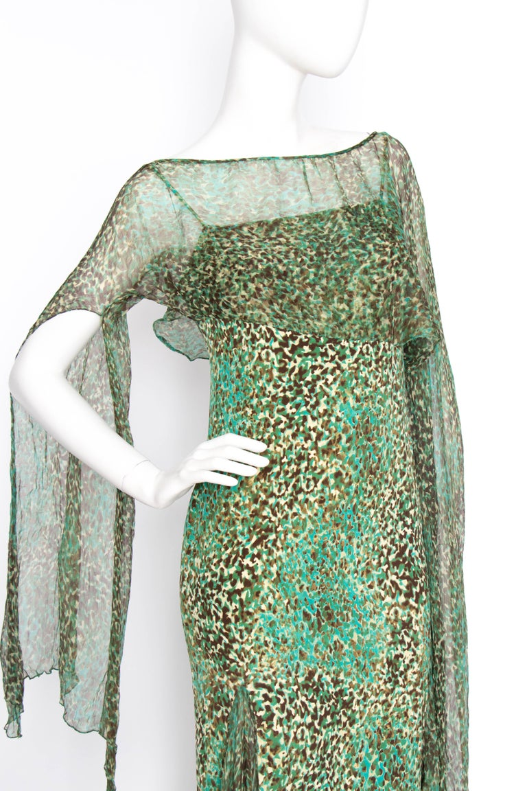 Women's or Men's An Early 2000s Elie Saab Jersey Evening Dress For Sale