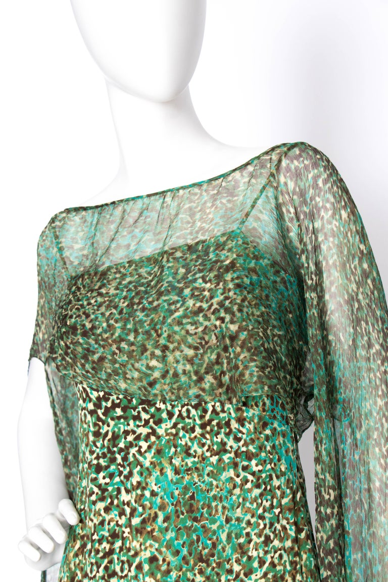 An Early 2000s Elie Saab Jersey Evening Dress For Sale 1