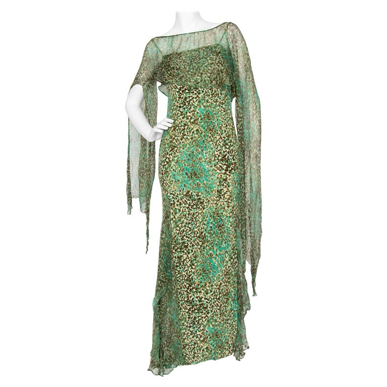 An Early 2000s Elie Saab Jersey Evening Dress For Sale