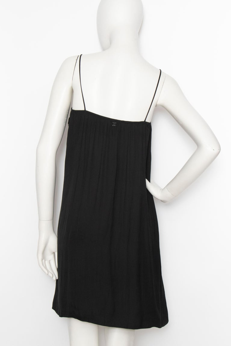 Women's or Men's An Early 2000s Vintage Chanel Black Babydoll Dress  For Sale