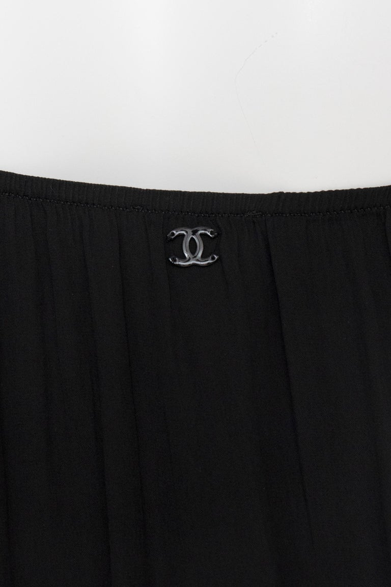An Early 2000s Vintage Chanel Black Babydoll Dress  For Sale 4
