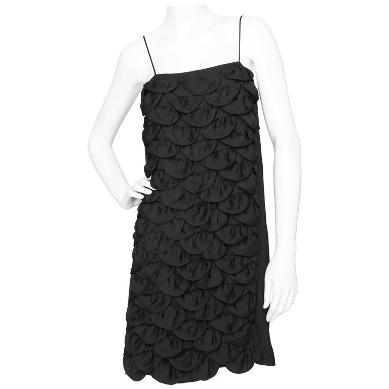 An Early 2000s Vintage Chanel Black Babydoll Dress  For Sale