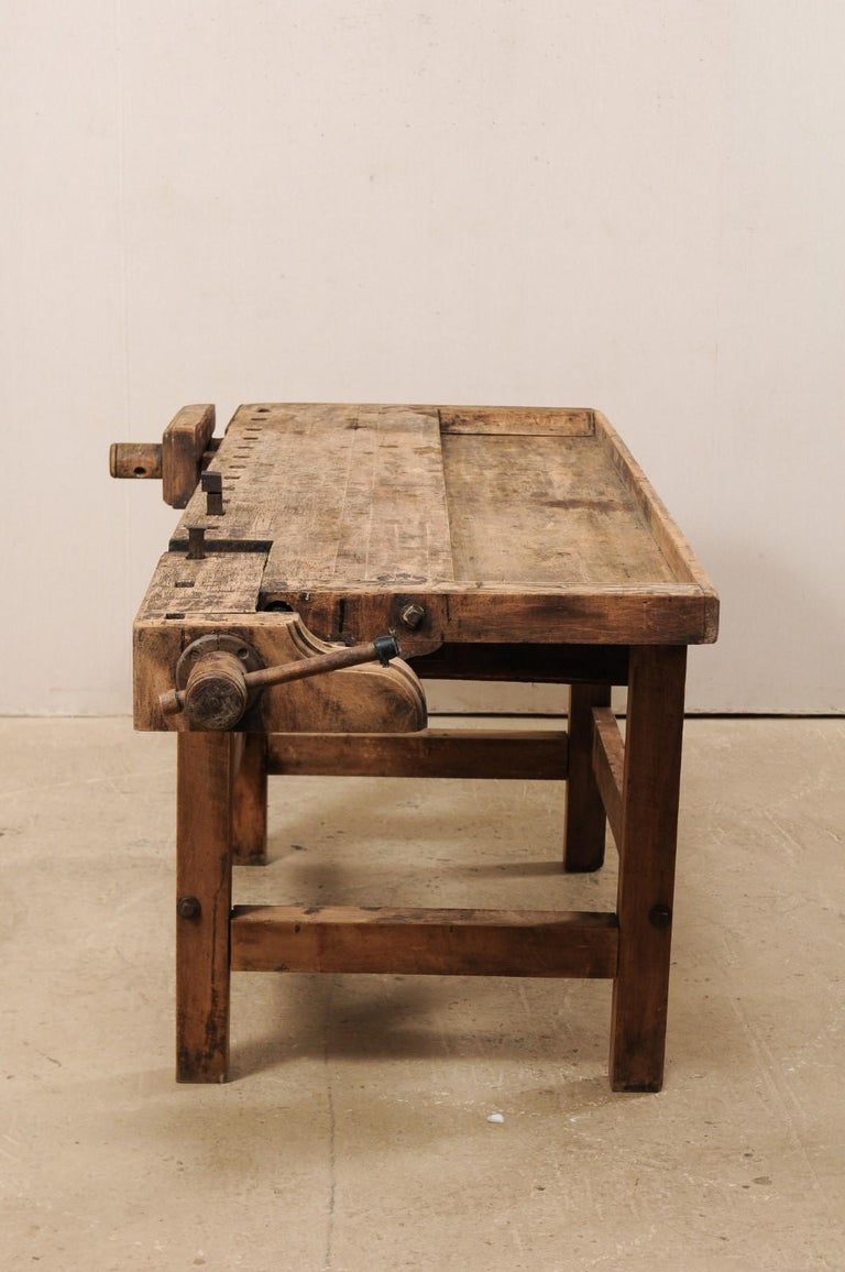 Early 20th Century Wooden Work Bench- Would Make Unique Extra Kitchen Work Space For Sale 6
