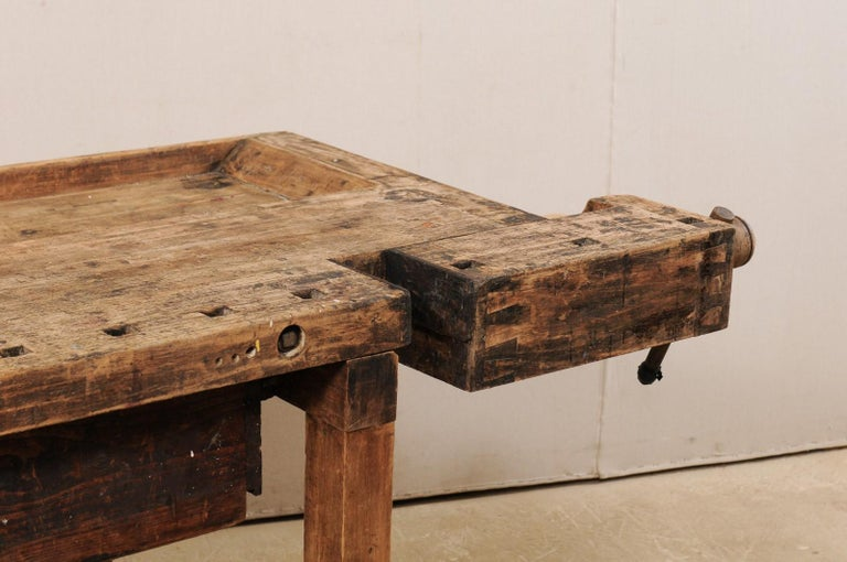 Early 20th Century Wooden Work Bench- Would Make Unique Extra Kitchen Work Space For Sale 1