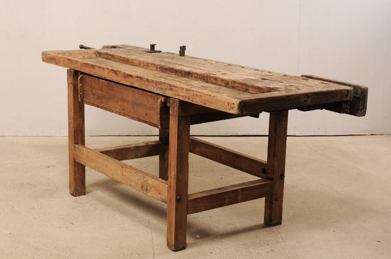 Early 20th Century Wooden Work Bench- Would Make Unique Extra Kitchen Work Space For Sale 4