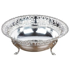 Early 20th Century Flared and Cast Silver Bowl