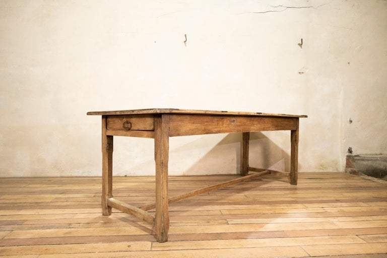 Early 20th century French Painted Refectory Farmhouse Table In Good Condition For Sale In Basingstoke, Hampshire