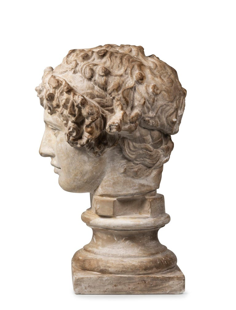 The Bithyian Greek Youth and Lover of the Roman Emperor Hadrian, after Antinous' mysterious death on the Nile River in 130 AD Hadrian deified Antinous and established Games in his honour. Antinous is here depicted wearing the victorious fillet of an