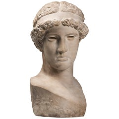An Early 20th Century Plaster Bust of Hera in the Severe Style