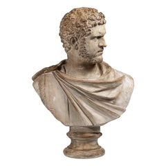 An Early 20th Century Plaster Bust of the 3rd Century Roman Emperor Caracalla
