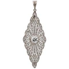 Early Art-Deco Diamond Rhomboid Plaque Pendant