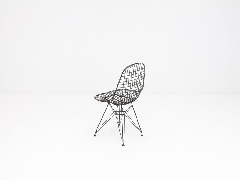 20th Century Early Charles and Ray Eames DKR Chair, Eiffel base