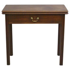 Early George III Mahogany Tea or Side Table with Folding Top