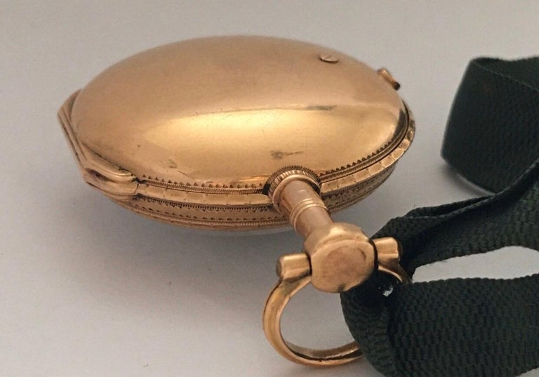Early and Rare Verge Fusee 18 Karat Gold Pocket Watch For Sale 10