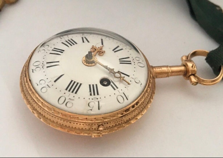 Early and Rare Verge Fusee 18 Karat Gold Pocket Watch In Good Condition For Sale In London, GB