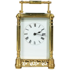 Early 20th Century French Brass Case Carriage Clock