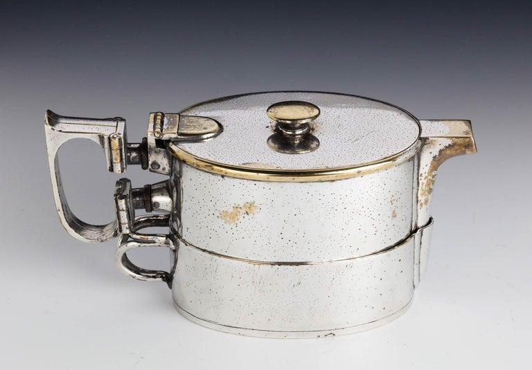 An  Early Twentieth Century  Twin Handled Silver Plated On Nickel Teapot For Sale 5