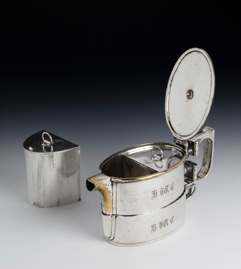 An  Early Twentieth Century  Twin Handled Silver Plated On Nickel Teapot In Good Condition For Sale In Peterborough, Northamptonshire