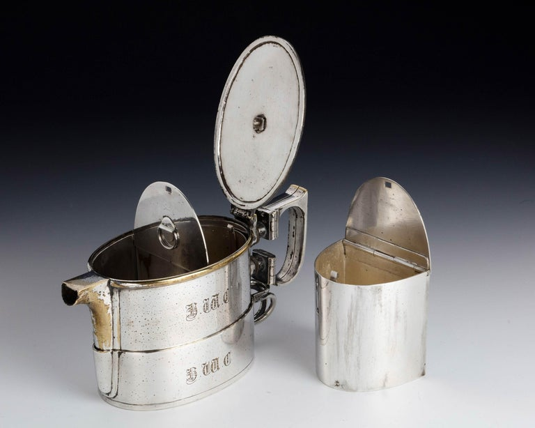 20th Century An  Early Twentieth Century  Twin Handled Silver Plated On Nickel Teapot For Sale