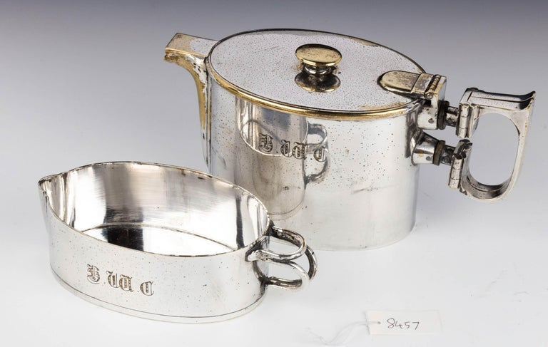 An  Early Twentieth Century  Twin Handled Silver Plated On Nickel Teapot For Sale 1